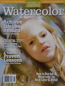 Watercolor magazine cover
